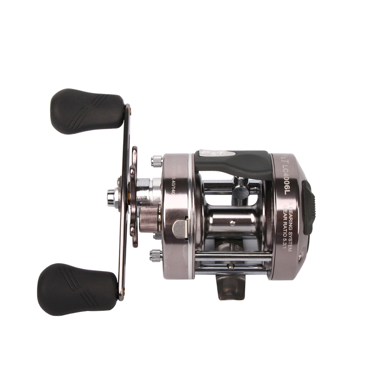 Metal Baitcasting Fishing Reel 5.3:1 Left or Right Fishing Reel 5BB Hard Bait Casting Fishing Reel Comfortable Handle outdoor 12 1bb 6 3 1 left right hand casting fishing reel cnc fishing reels carp bait baitcasting carretilha de pesca molinete shimano