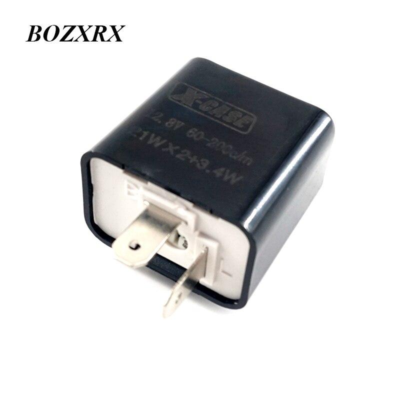 Motorcycle Universal Adjustable Frequency Square Flashing LED Flasher LED Turn Signal Indicator Flasher Blinker Relay Resistor