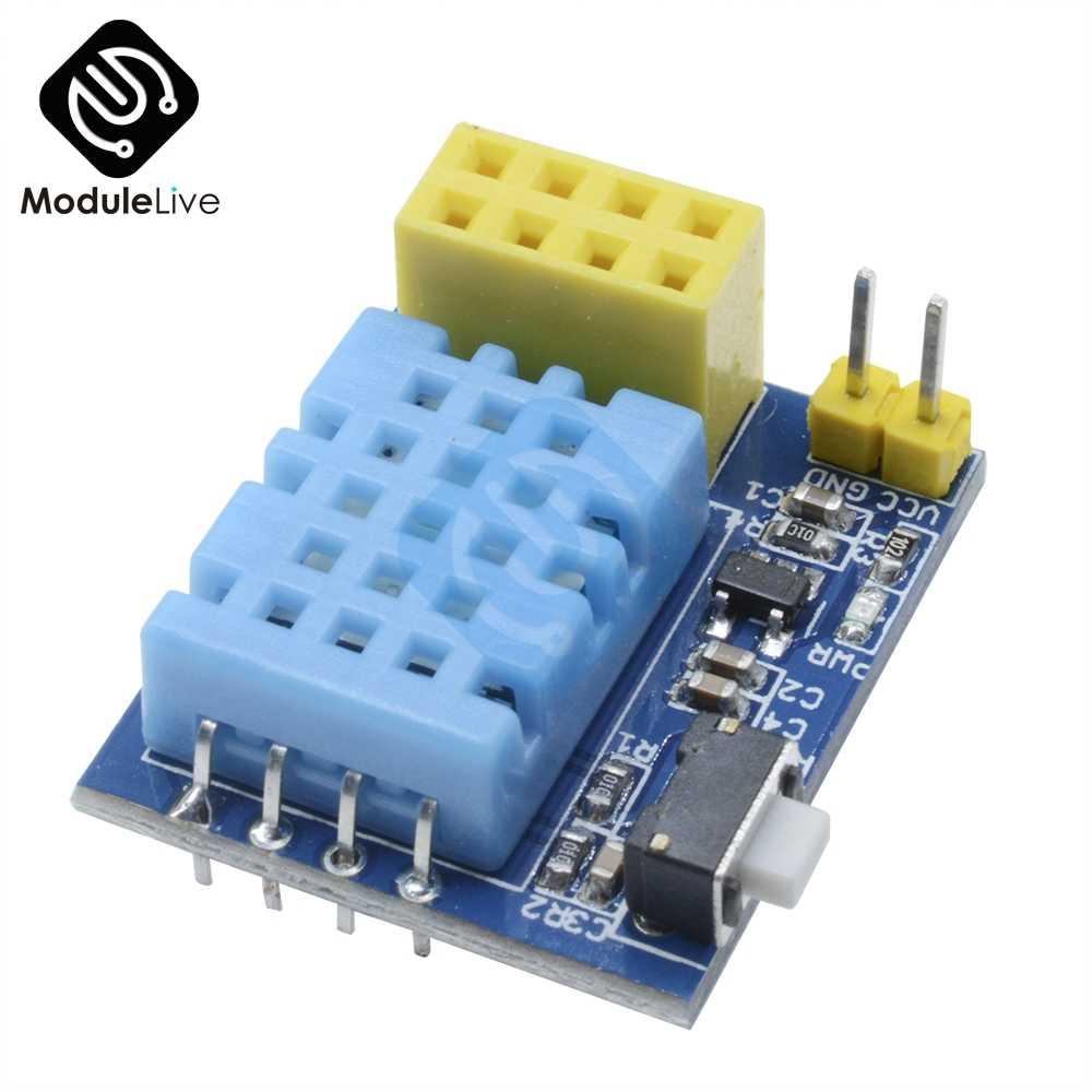 ESP8266 ESP-01 ESP-01S ESP01 DHT11 czujnik temperatury i wilgotności moduł adaptera ESP8266 Wifi inteligentnego domu IOT dla Arduino