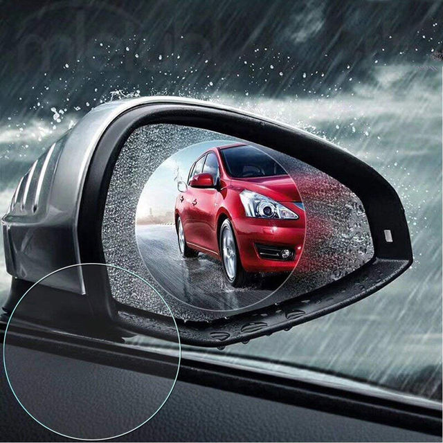 2pcs Car Rearview Mirror Waterproof Membrane Anti Glare Anti Fog
