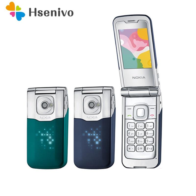 7510 100% Original Unlocked Nokia 7510A Supernova Mobile Phone Refurbished Flip Bluetooth Mp3 Unlocked Cellphones Free Shipping