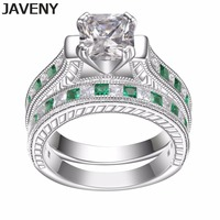 925 Sterling Silver Princess Cubic Zirconia Womens Girls Engagement Bridal Wedding Rings Sets Birthday Gifts 12pcs Lot Wholesale