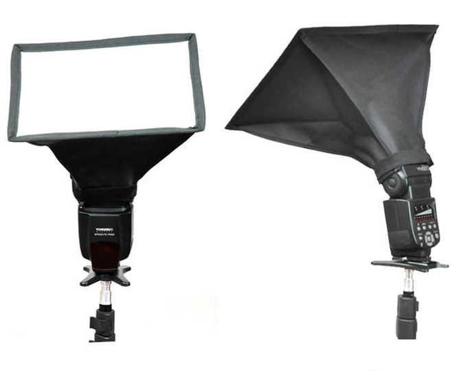 BIZOE 20*30cm 15*17cm Softbox Difusor de Flash Speedlite Photo Studio Acessórios para Canon Nikon Pentax sony
