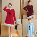4xl plus big size women clothing 2017 spring autumn winter korean vestidos cute sweet red dress female A2493