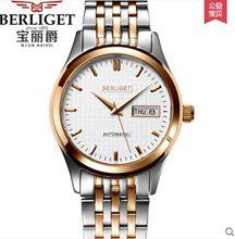 ae8f82554c5 Jóias 24 MIYOTA NH32A 50 m água BERLIGET relógio mecânico Automático  relógios de pulso dos homens