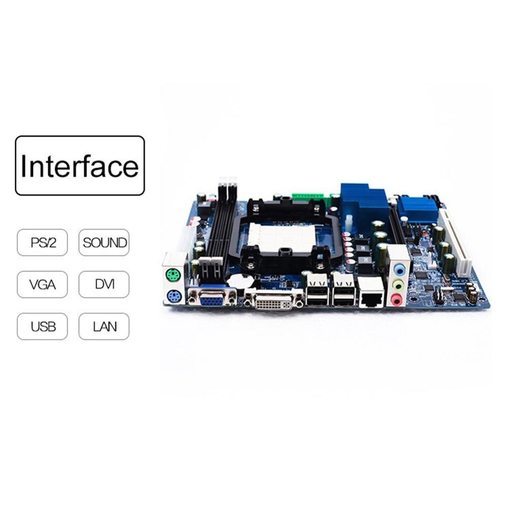 8 Ports USB carte mère mémoire DDR3 carte mère pour AMD AM3 A78 938 Dual Core