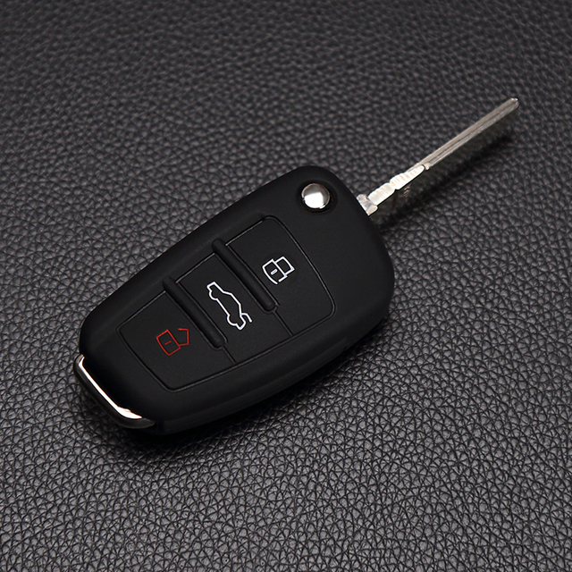 for Audi A1 A2 A3 A4 A5 A6 A7 S7 S6 S8 S8 Q3 Q5 Q7 R8 TT Fob cover silicone car key skin case high quality protected 3 buttons