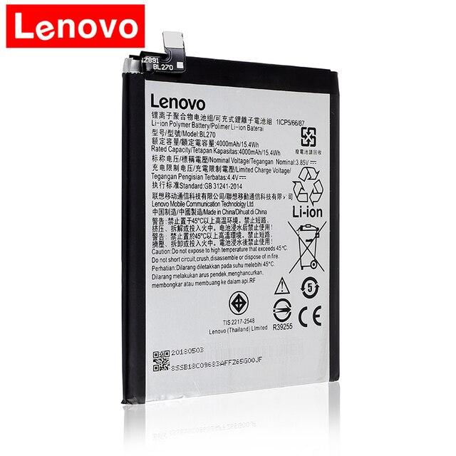 2018 Оригинал 4000 мАч BL270 Батарея для Lenovo Vibe k6 плюс г плюс G5 плюс Батарея