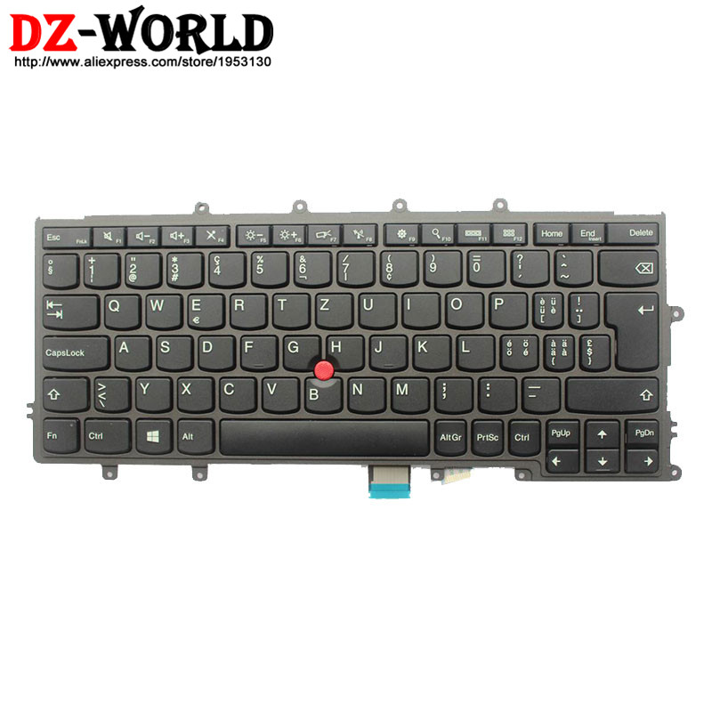 New Original for Lenovo Thinkpad X230S X240 X240S X250 X260 Keyboard Switzerland Swiss Teclado 04Y0965 04Y0927 0C44738 все цены