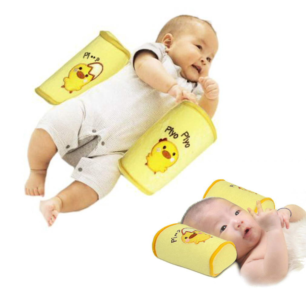 OUTAD 1 PC Infant Baby Toddler Safe Cotton Anti Roll Pillow Yellow Sleep Flat Head Positioner Newborn Baby Pillows