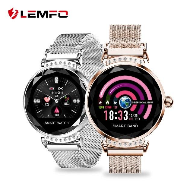 LEMFO H2 2019 nuevo de lujo inteligente de pulsera de Fitness las mujeres sangre presión Monitorización del ritmo cardíaco pulsera mujer regalo para amigo