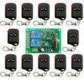 DC12V 10A 2CH 315 MHz/433 MHZ Transmissor Sem Fio RF Interruptor de Controle Remoto 12 * olho de gato + 1 * receptor para Eletrodomésticos Porta Da Porta Da Garagem