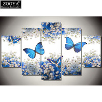 Zhui Star 5d Diy Diamond Embroidery Butterfly Flower Diamond Painting Cross Stitch Full Drill Rhinestone Mosaic