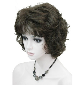 Image 4 - StrongBeauty Womens Wigs Black/Brown Natural Short Curly Hair Synthetic Full Wig 18 Color