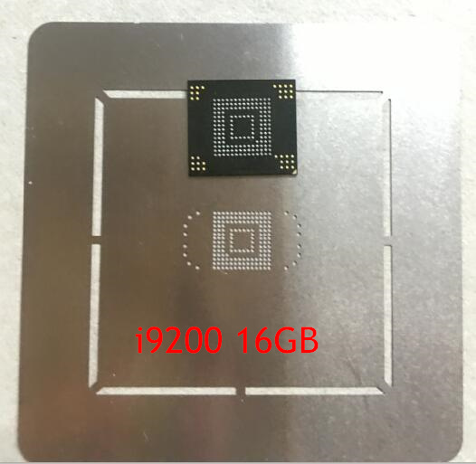 1pair/lot 1pcs eMMC memory flash NAND with firmware for Samsung Galaxy Mega 6.3 I9200 16GB +1pcs BGA reballing reball stencil