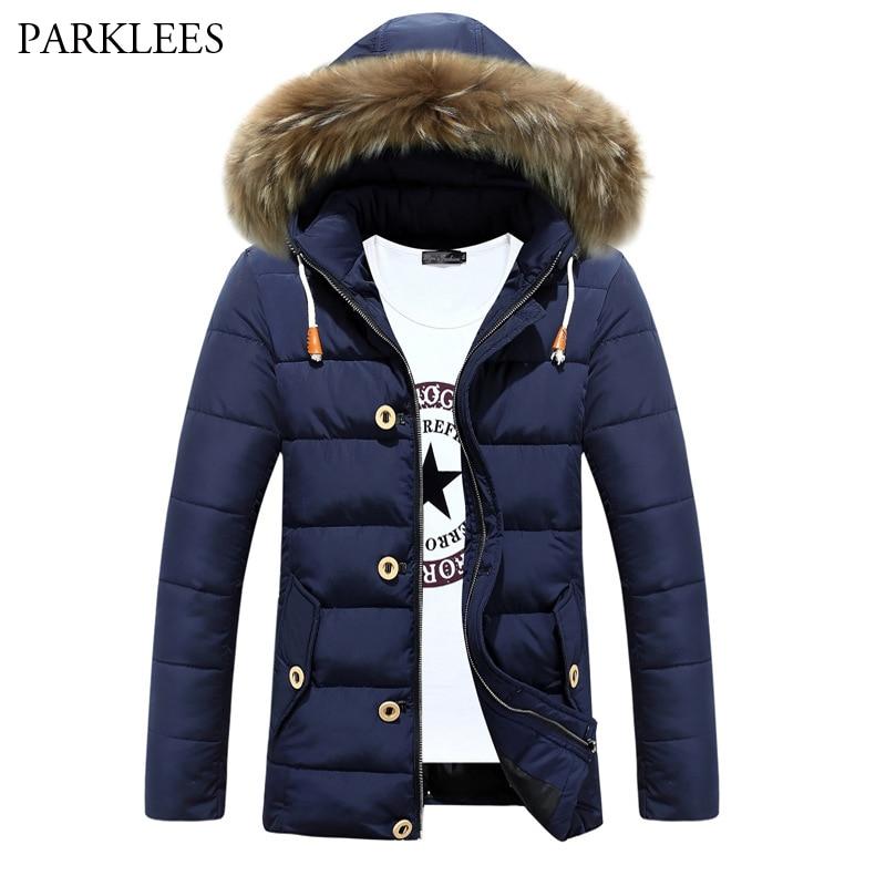Thick Warm Parka Men 2017 Brand New Zipper Mens Jackets and Coats Fashion Slim Fit Manteau Homme Hiver Winter Outwear Coat XXXL