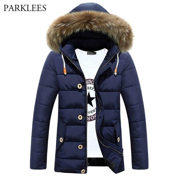 Thick Warm Parka Men 2017 Brand New Zipper Mens Jackets and Coats ...