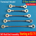 Aluminum M3 Silver Link Rod End Ball Joint  Metal Tie Rod End Assembly High Precision