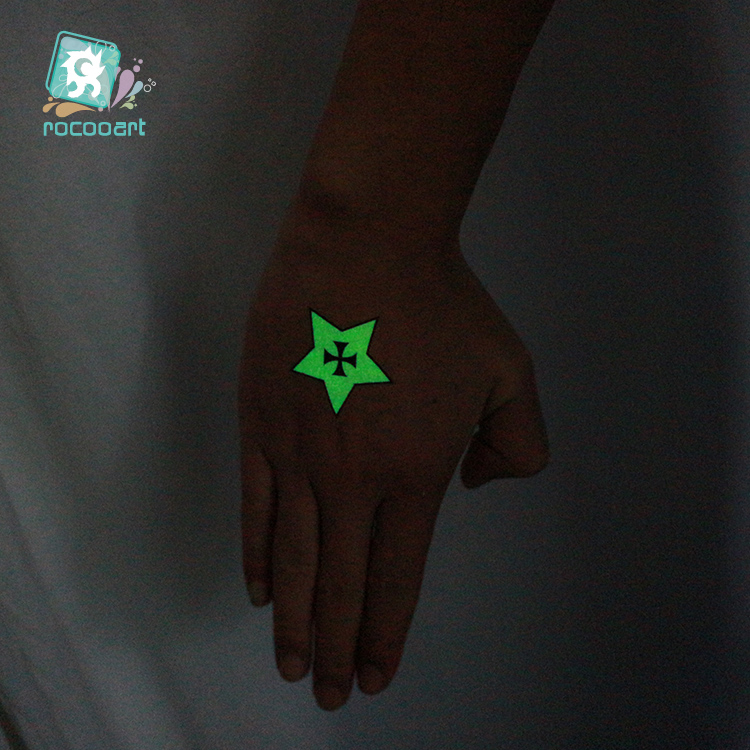 Halloween Glow in the dark Temporary Tattoo 4