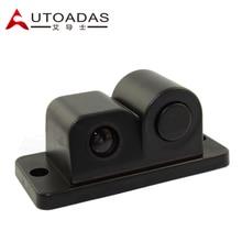 2 in one car parking sensor with rear view camera waterproof car revresing camera  car parking system AV in
