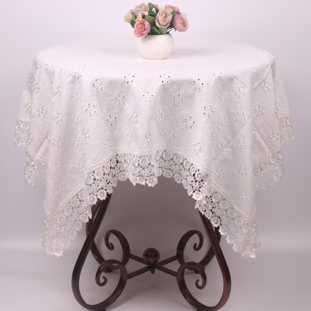 Christmas table cloth plain beige embroidered table covers for White cotton table cloth