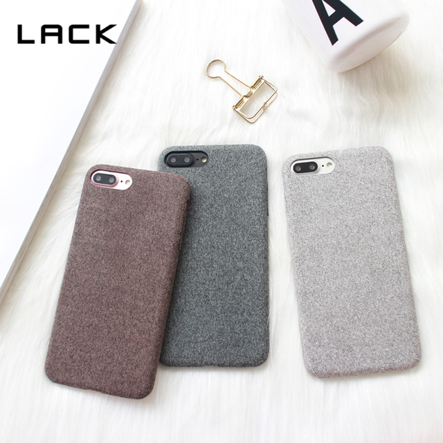 buy online 46d5c cb01f US $2.62 18% OFF|LACK Warm Fuzzy Phone Case For iphone 8 Case Vintage Cloth  Skin Soft Phone Bags For iphone 8 Plus Solid Color Back Cover Coque-in ...