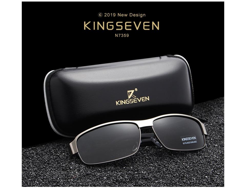 KINGSEVEN Fashion Sunglasses Men Driving Sun Glasses For Men Brand Design High Quality Eyewear Male