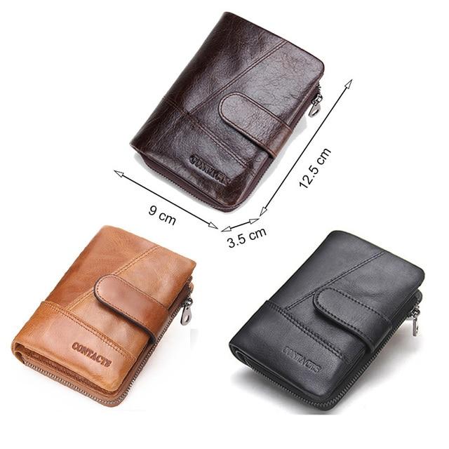 CONTACT'S 100% Genuine Leather Men's Wallet Hasp Design Vintage Men Wallets Coin Purse Short Male Wallet Man Portomonee Walet 4