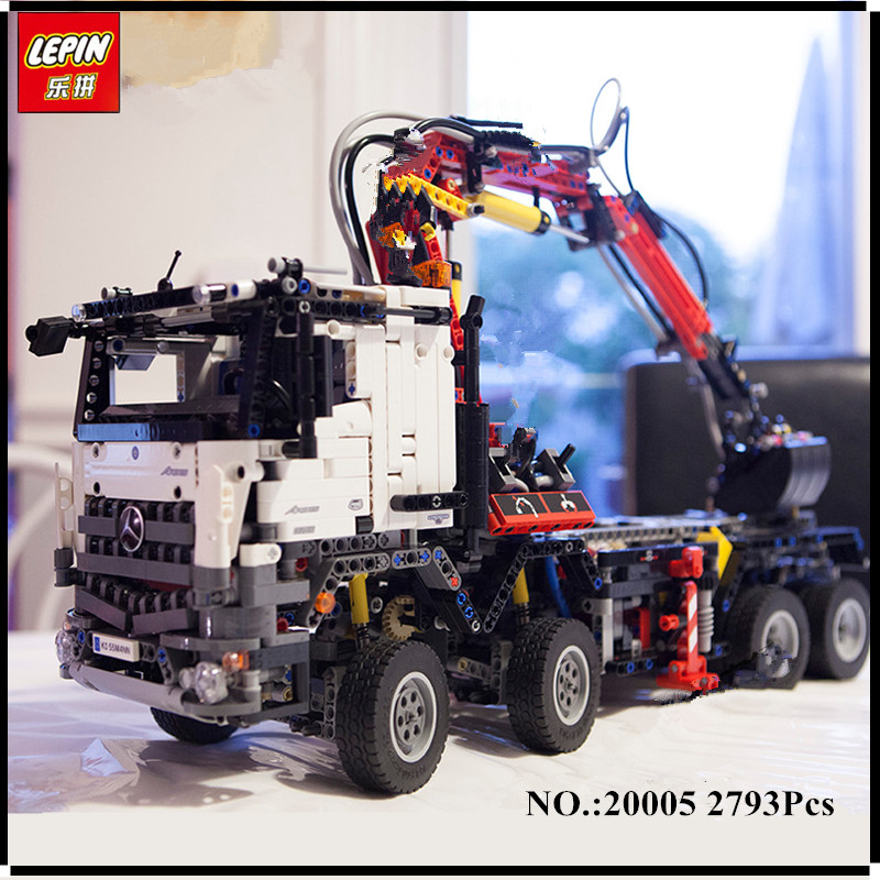 IN STOCK 2793pcs NEW LEPIN 20005  series 42023 Arocs Model Building Block Bricks Compatible with Boys Toy Gift new 2793pcs lepin 20005 technic series 42023 arocs model building block bricks compatible with 05007 educational boys toy gift