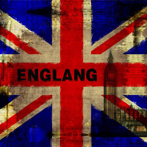 England Flag Wallpaper 10x10 Cp Backdrop Computer Printed