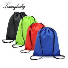 hot deal buy 39x33cm drawstring bags  string sack beach women men travel storage jewelry packaging display pouches simple functional backpack