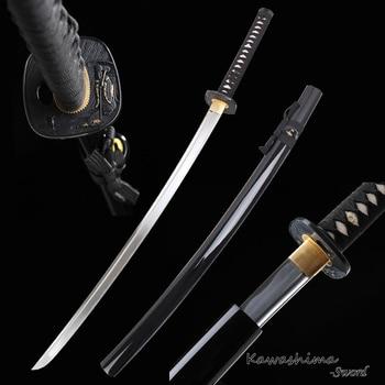 Handmade Japanese Katana Real Samurai Sword  High Carbon Steel Full Tang Sharpness Ready for Cutting Mat Straw-41 Inch