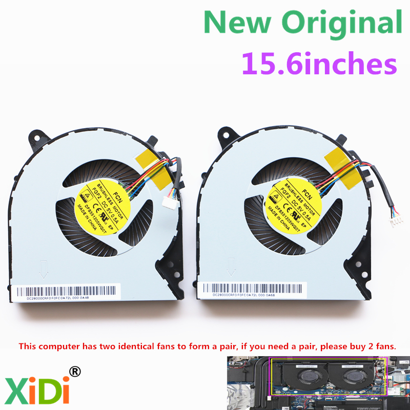 NEW CPU FAN FOR LENOVO Y700 Y700-15ISK CPU COOLING FAN new original palmrest for lenovo y700 15 y700 15isk y700 15acz keyboard with backlit bezel upper cover