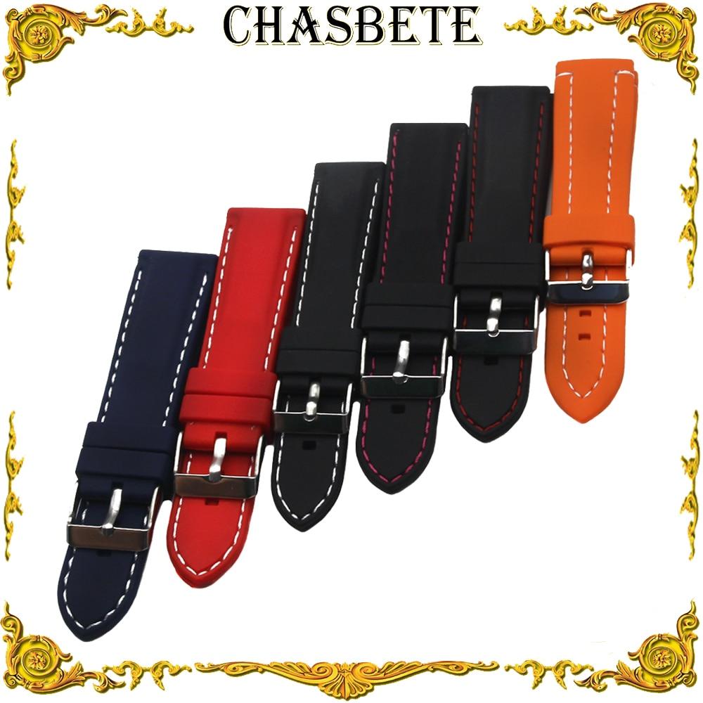 18mm 20mm 22mm 24mm Silicone Rubber Watch Band for Patek Philippe Blancpain Men Women Resin Strap Wrist Loop Belt Bracelet Black