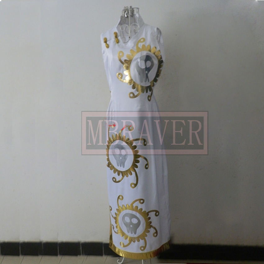 One Piece Snake Princess Boa Hancock White Cheongsam Cosplay Costume Custom Made Any Size