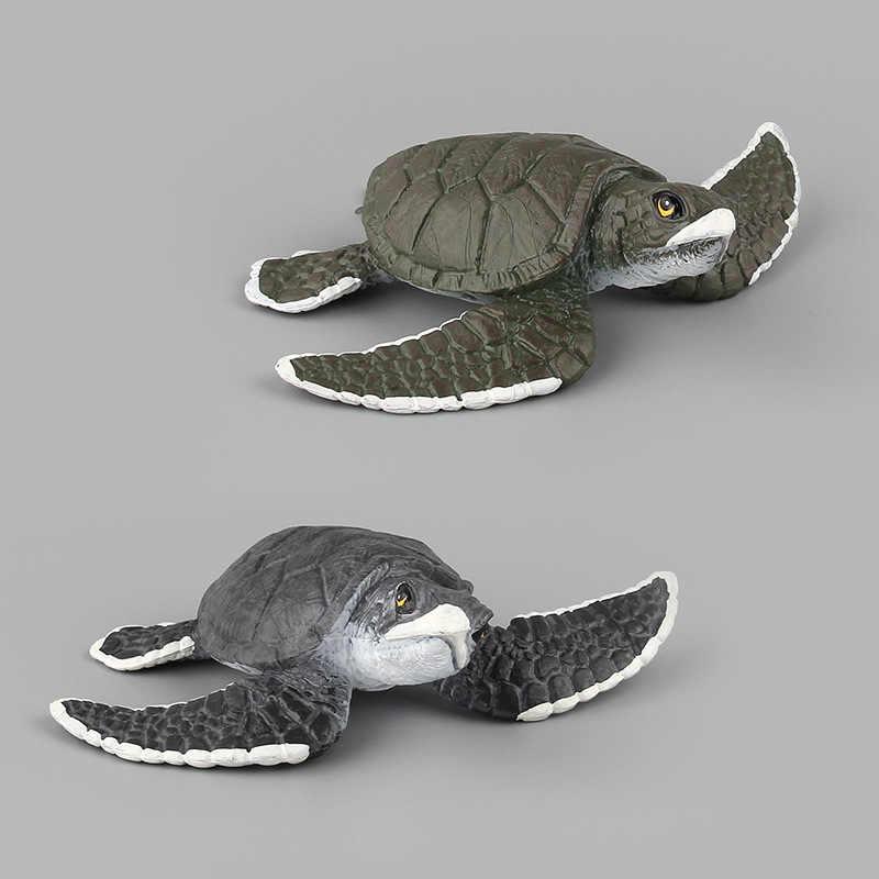 Mundo Animal Marinho oceano Sea Life Simulação Figura Polvo Tartaruga Caranguejo Peixe Coleção Modelo Boneca de Presente Para Crianças Brinquedos F5