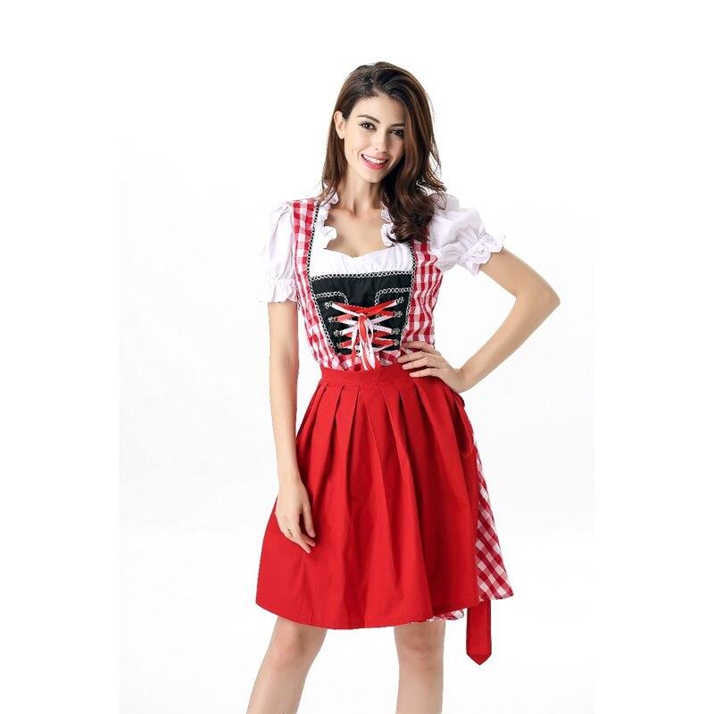 Nouveau Design Sexy Bière Fille Dress 2 Pièces Allemagne Oktoberfest Tenues Femmes Mode Halloween Bière Tablier de Ménage Fantaisie Dress A417039