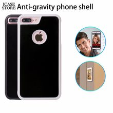 Icase store Anti-gravity Phone Case For iPhone X 8 7 6s Plus 6 5S Magical Anti Gravity Nano Suction Back Cover Antigravity case(China)