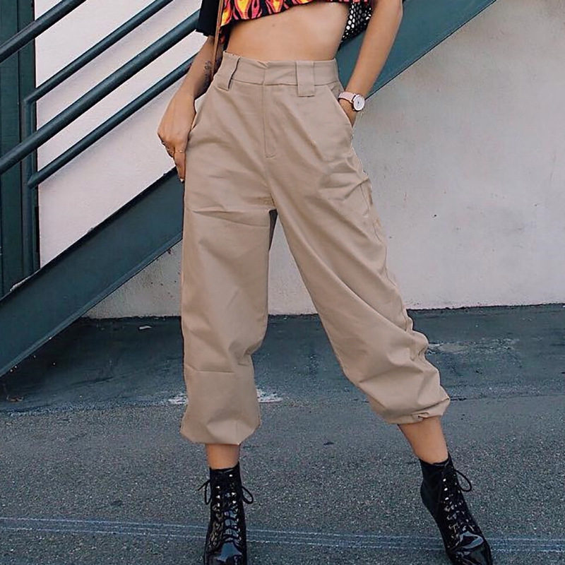 6140dd3963e5e2 2018 Summer Harem Pants Women Female Fashion High Waist Hip Hop Pant Women  Trousers Slim Long Pants Female Streetwear With Chain-in Pants & Capris  from ...