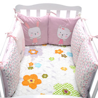 6pcs Baby Bed Bumpers for Newborn Cotton Bed Baby Crib Bumper Bedding Around Protection Back Cushion Pillow Crib Bumpers Bedding