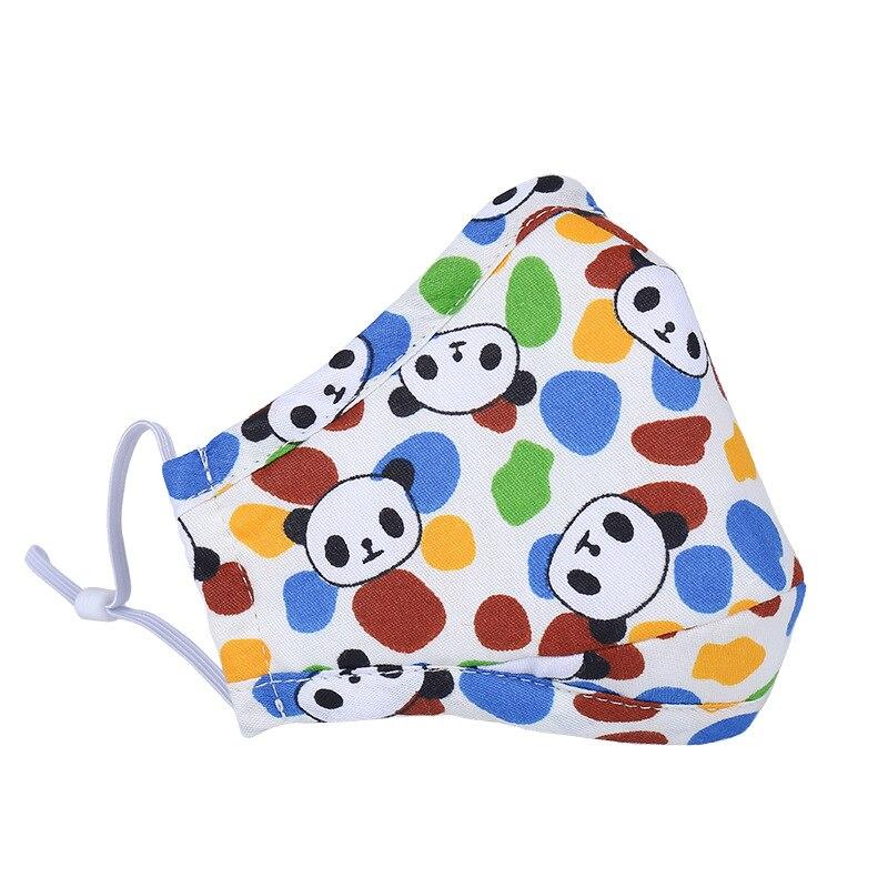 5pcs/Pack Fashion Children's Warm-dimensional Anti-fog And Haze Pm2.5 Cotton Children's Masks Activated Carbon Masks Wholesale
