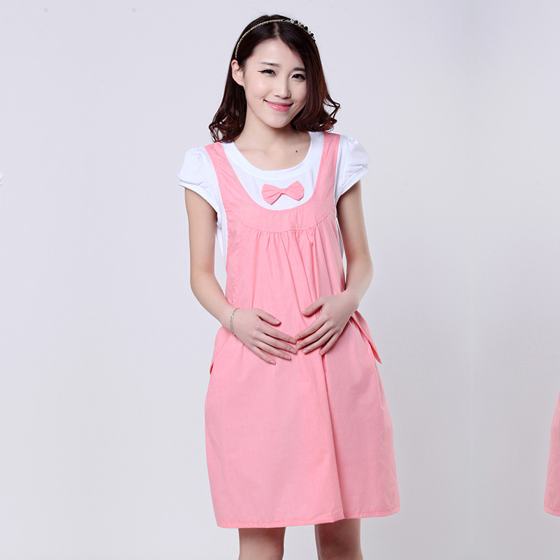 New Spring Summer Fashion Pregnancy Clothes Cute Korean Maternity Photography Props Dress Casual Cotton Ladies Pregnant Dresses In Dresses From Mother