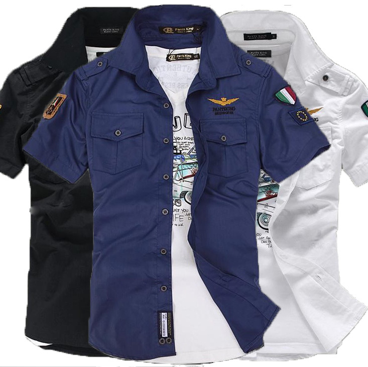2014 New Style Short Sleeve Shirt For Men Fashionu0026 Leisure ...