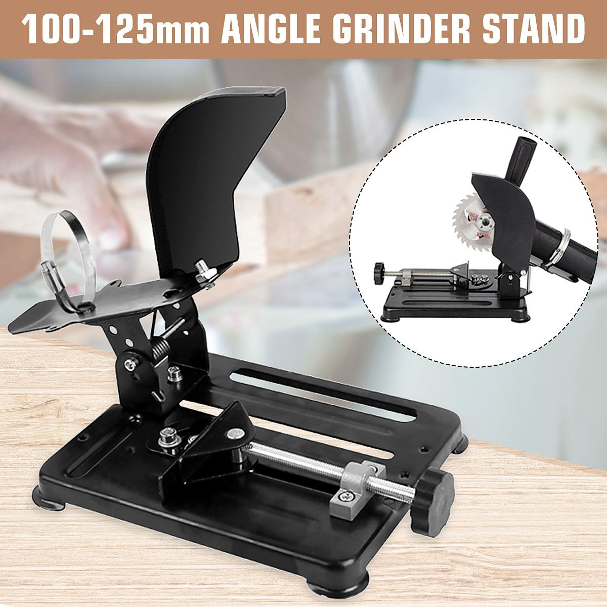Polisher Stand Angle Grinder Stand Aluminum bracket lightweight support Holder for 100 115 125mm angle grinder cuttingPolisher Stand Angle Grinder Stand Aluminum bracket lightweight support Holder for 100 115 125mm angle grinder cutting