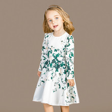 2016 Girls dress autumn space cotton long sleeved Princess Dress