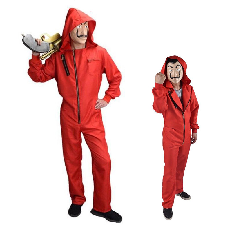 Salvador Dali Cosplay Movie House of Paper La Casa De Papel Spain TV Netflix Cosplay Adult kids separate mask Costume