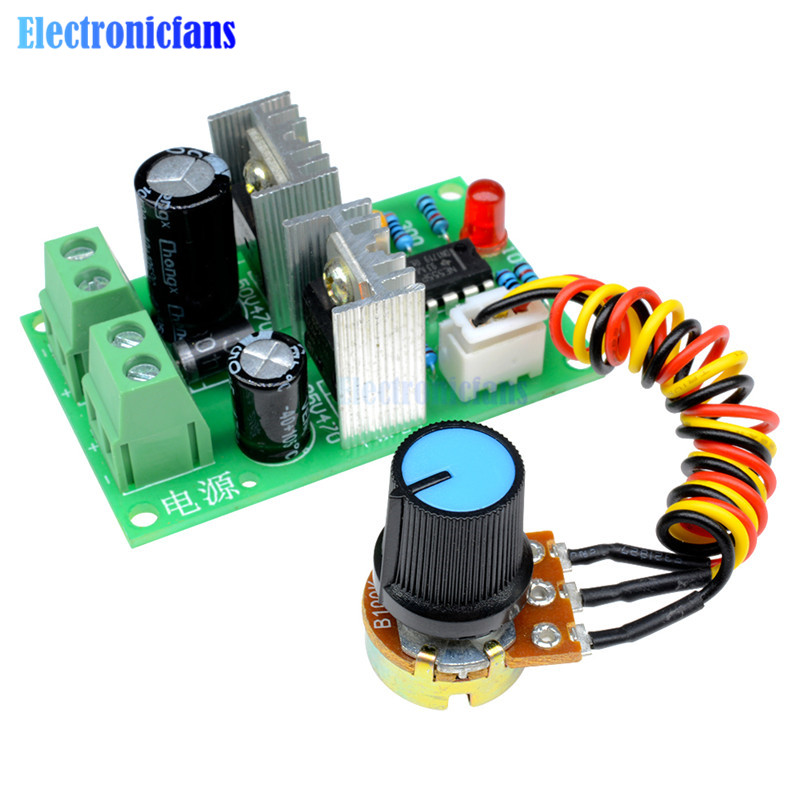 Electronic Components & Supplies 3a Pulse Width Pwm Dc Motor Speed Regulator Controller Switch 12v/24v/36v 500khz Pwm Frequency With Overcurrent Protection Quality And Quantity Assured