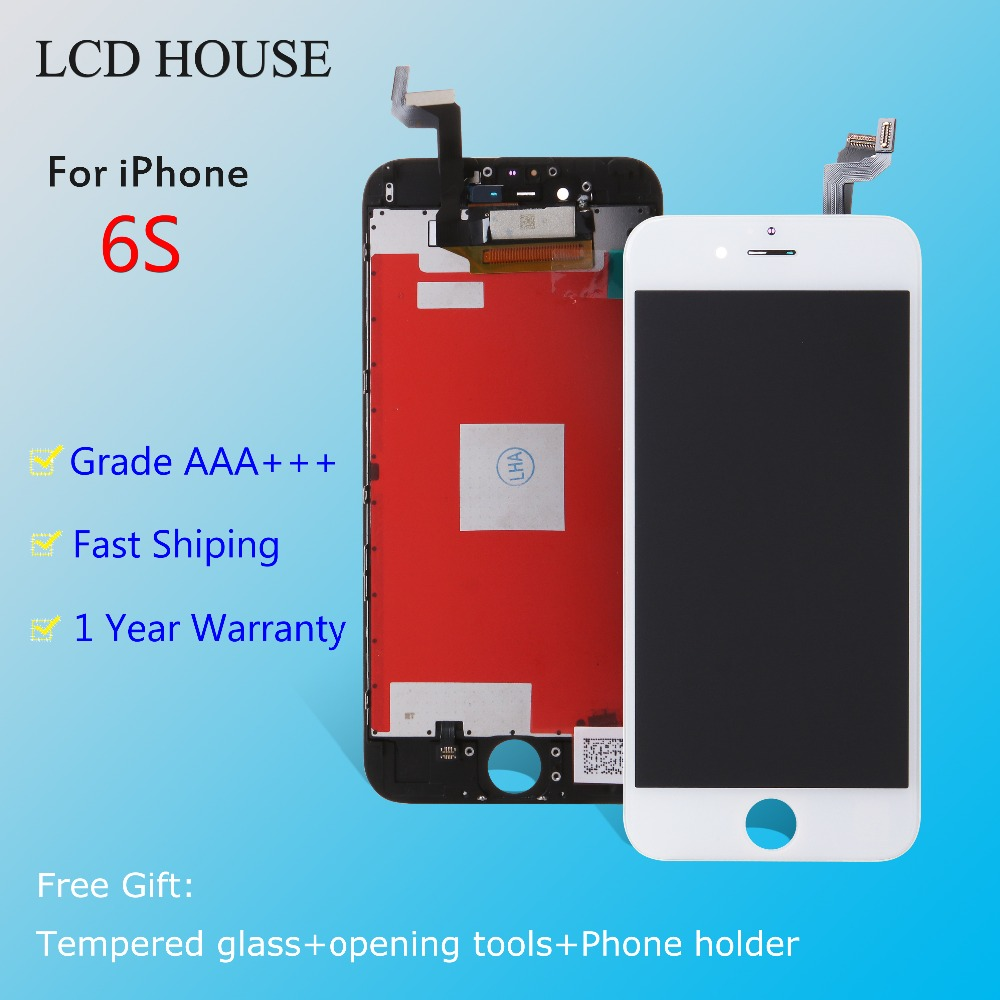 High quality Grade AAA+++ For iPhone 6S LCD Display With 3D Touch Screen Digitizer Assembly Replacement Free Shipping