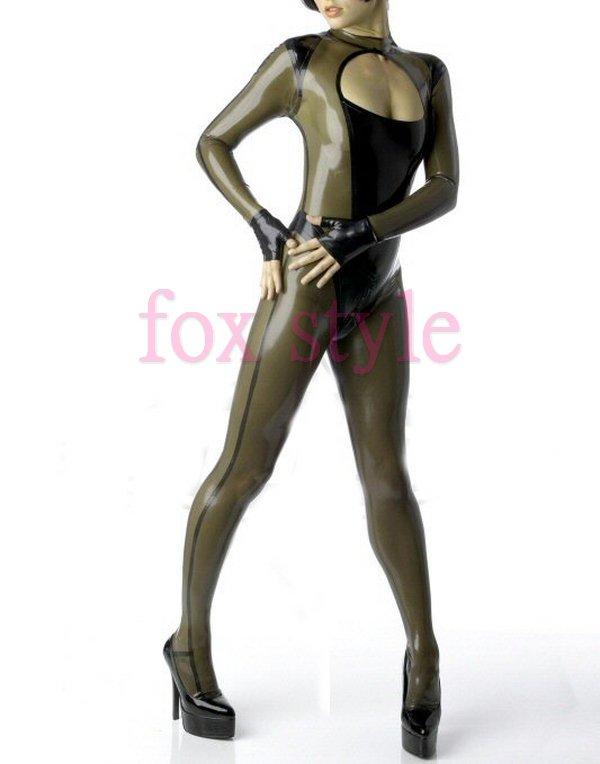 sexy rubber teddies latex bodysuit for ladies