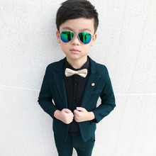 2019 Kids boys suits set formal kid boys wedding suit tuxedo for boys suits for weddings suit for kids boy birthday(Blazer+Pant) brand wedding suit for flower boys campus student formal dress gentleman kids blazer shirt pant bowtie 4pcs ceremony costumes